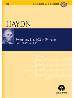 Joseph Haydn: Symphony No.103 In E Flat 'Drum Roll' (Eulenburg Score/CD) Books and CDs | Orchestra