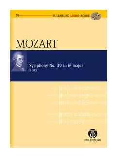 W.A. Mozart: Symphony No.39 In E Flat K.543 (Eulenburg Score/CD) Books and CDs | Orchestra