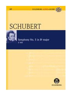 Franz Schubert: Symphony No.5 In B Flat D.485 (Eulenburg Score/CD) Books and CDs | Orchestra