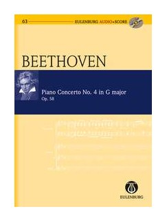 Ludwig Van Beethoven: Piano Concerto No.4 In G Op.58 (Study Score) Books and CDs | Piano, Orchestra