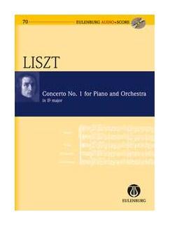 Franz Liszt: Piano Concerto No.1 In E Flat (Eulenburg Audio+Score) Books and CDs | Piano, Orchestra