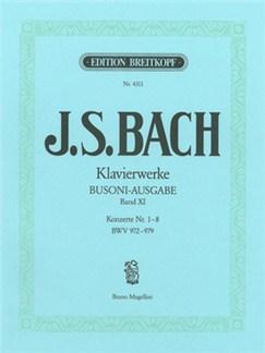 J.S. Bach: Complete Piano Works - Vol. XI (Concertos Nos. 1-8 BWV 972-979) Books   Piano