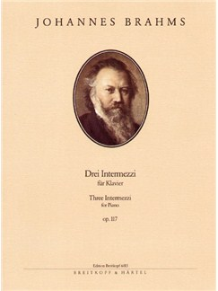Johannes Brahms: 3 Intermezzi Op.117 Books   Piano