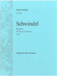Friedrich Schwindel: Flute Concerto in D Books | Flute, Piano Accompaniment
