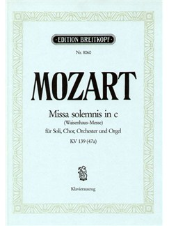 W.A. Mozart: Missa Solemnis In C K.139 (47a) Books | SATB, Piano Accompaniment