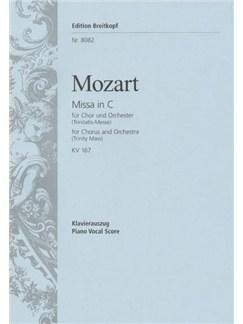 W.A. Mozart: Missa In C K.167 (Trinitatis-Messa) Books | SATB, Piano Accompaniment