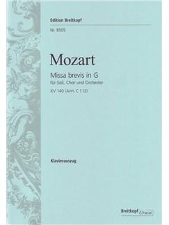 W.A. Mozart: Missa Brevis In G K.140 (App. C 1.12) Books | SATB, Piano Accompaniment