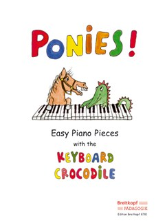 Ponies! - Easy Piano Pieces With The Keyboard Crocodile Books | Piano, Easy Piano