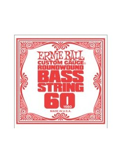 Ernie Ball: 1660 Custom Gauge .060 Nickel Wound Bass Guitar String  | Bass Guitar