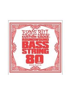 Ernie Ball: 1680 Custom Gauge .080 Nickel Wound Bass Guitar String  | Bass Guitar