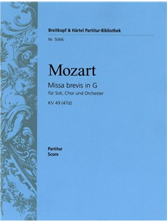 Wolfgang Amadeus Mozart: Missa Brevis In G KV 49 (47d) Books | SATB, Piano