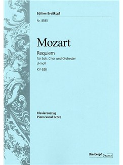 Wolfgang Amadeus Mozart: Requiem In D KV 626 Books | SATB/Piano