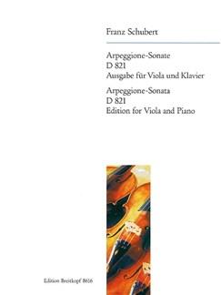 Franz Schubert: Arpeggione-Sonate A-Moll D 821 Books | Viola, Piano
