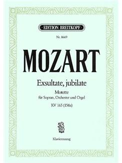 Wolfgang Amadeus Mozart: Exsultate, Jubilate KV 165 Books | Soprano, Piano Accompaniment, Organ Accompaniment