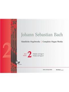 Johann Sebastian Bach: Complete Organ Works - Volume 2 (Breitkopf Urtext) (Book/CD-Rom) Books and CD-Roms / DVD-Roms | Organ
