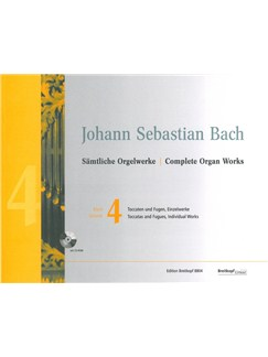 J.S. Bach: Complete Organ Works Volume 4 - Toccatas (And Fugues) Books and CD-Roms / DVD-Roms | Organ
