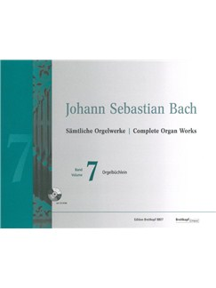 J.S. Bach: Complete Organ Works - Volume 7 (Breitkopf Urtext) (Book/CD-Rom) Books | Organ