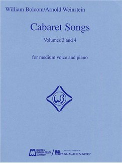 William Bolcom: Cabaret Songs Volumes 3 And 4 Books | Medium Voice, Piano Accompaniment