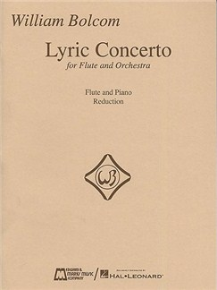 William Bolcom: Lyric Concerto For Flute And Orchestra (Flute/Piano) Books | Flute, Piano
