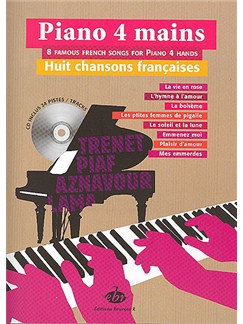 Piano 4 mains, 8 Chansons Françaises Books and CDs | Piano Duet