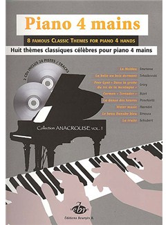 Piano 4 Mains, 8 Thèmes Classiques Books and CDs | Piano Duet