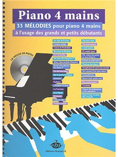 Piano 4 Mains, 33 Mélodies Books and CDs | Piano Duet
