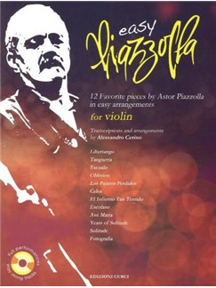 Easy Piazzolla: Violin (Book/CD) Books and CDs | Violin