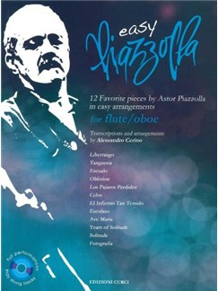 Easy Piazzolla: Flute/Oboe (Book/CD) Books and CDs | Flute, Oboe