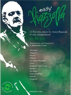 Easy Piazzolla: E Flat Saxophone (Book/CD) Books and CDs | Saxophone