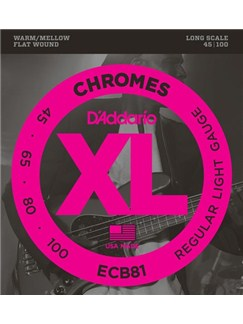 D'Addario: ECB81 Chromes Bass, Light, 45-100, Long Scale  | Bass Guitar