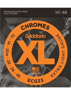 D'Addario: ECG23 Chromes Flat Wound Extra Light Electric Guitar String Set 10-48  | Electric Guitar