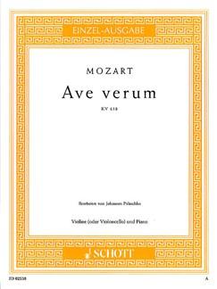 W.A. Mozart: Ave Verum KV618 (Violin) Books | Violin, Piano Accompaniment