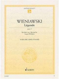 Henri Wieniawski: Legende Op.17 (Violin/Piano) Books | Violin, Piano Accompaniment