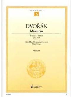 Antonín Dvořák: Mazurka D-Moll Books   Piano