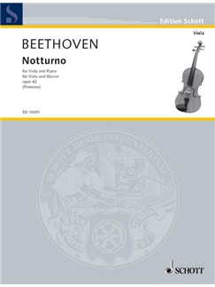 Ludwig Van Beethoven: Notturno Op.42 (Viola/Piano) Books | Viola, Piano Accompaniment