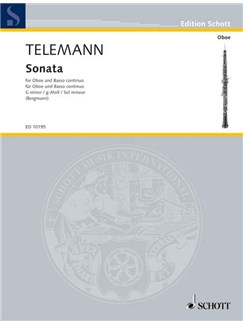 Georg Philipp Telemann: Sonata For Oboe In G Minor Books | Oboe, Piano Accompaniment