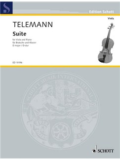 G.P. Telemann: Suite In D For Viola And Piano Books | Viola, Piano Accompaniment