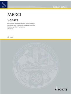 Luigi Merci: Sonata G Minor Op.III/4 For Bassoon Bass Books | Bassoon or Cello, Continuo