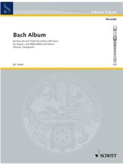 Bach Album for Descant and Treble Recorders with Piano Books | Soprano (Descant) Recorder, Alto (Treble) Recorder