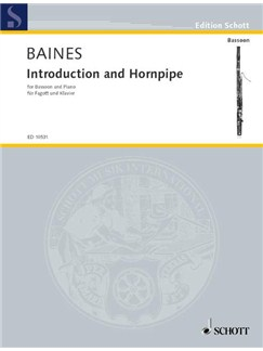 Francis Baines: Introduction And Hornpipe Books | Bassoon, Piano Accompaniment