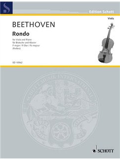 Beethoven: Rondo For Viola and Piano In F Major Books | Viola, Piano Accompaniment
