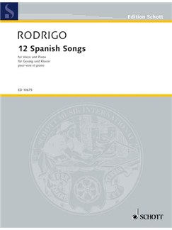 Joaquin Rodrigo: 12 Spanish Songs Books   Voice, Piano Accompaniment