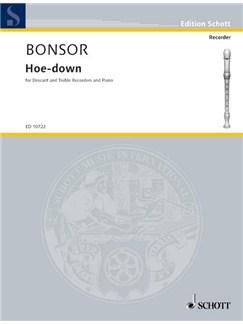 Bonsor; Hoe-Down for Descant and Treble Recorder duet, and Piano Books | Piano, Soprano (Descant) Recorder, Alto (Treble) Recorder