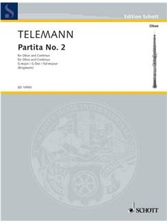 Georg Philipp Telemann: Partita No.2 In G - Oboe/Basso Continuo Books | Oboe, Continuo