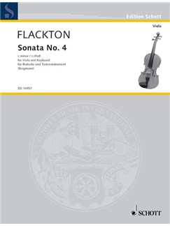 William Flackton: Sonata For Viola No.4 In C Minor Op.2 No.8 Books | Viola, Piano Accompaniment