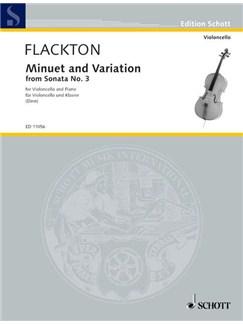 William Flackton: Minuet And Variation (Sonata No.3 In F) Books | Cello, Piano Accompaniment