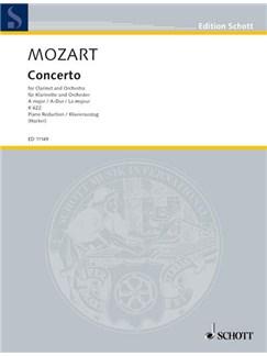 W.A. Mozart: Concerto K.622 In A (Hacker) - Piano Reduction Books | Clarinet, Piano Accompaniment