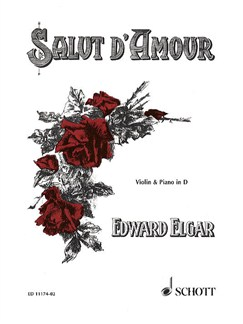 Edward Elgar: Salut D'Amour (Violin/Piano) Books | Violin, Piano Accompaniment