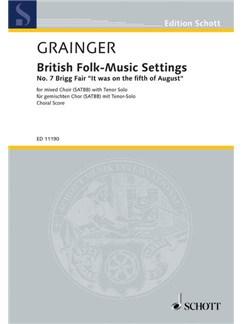 Percy Grainger: British Folk-Music Settings - No. 7 Brigg Fair Books | SATB, Tenor