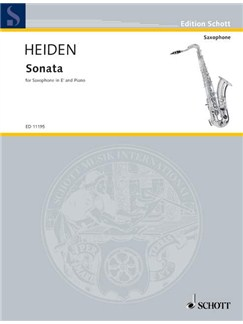Bernhard Heiden: Sonata For Alto Saxophone And Piano Books | Alto Saxophone, Piano Accompaniment